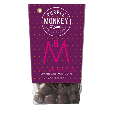 Purple-Monkey-Sweet-Fruits-&-Nuts-Bitter-Mandi-Almond-Spanische-Mandeln-Chocolate-Schokolade-Klemm-Design