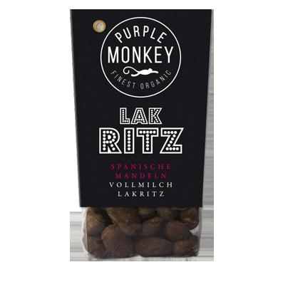 Purple-Monkey-Sweet-Fruits-&-Nuts-Lak-Ritz-Almond-Spanische-Mandeln-Dark-Chocolate-Schokolade-Klemm-Design