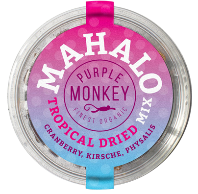 pure-fruits-produkte-Mahalo-Cranberry-Kirsche-Physalis-dry-fruit-tropical-mix-trockenfrüchte-purple-monkey-klemm-design