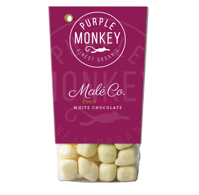 Purple-Monkey-Sweet-Fruits-&-Nuts-Maleco-Coco-Cubes-White-Chocolate-Kokos-Weiße-Schokolade-Klemm-Design