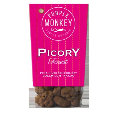 Purple-Monkey-Sweet-Fruits-&-Nuts-Picory-Finest-Vollmilch-Pekannuss-Kakao-Choc-Chocolate-Schokolade-Klemm-Design