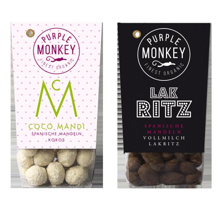 Spanische Mandeln Schokoliert Kokos Lakritz Purple Monkey