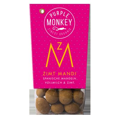 Purple-Monkey-Sweet-Fruits-&-Nuts-Zimt-Mandi-Almond-Spanische-Mandeln-Dark-Chocolate-Schokolade-Klemm-Design