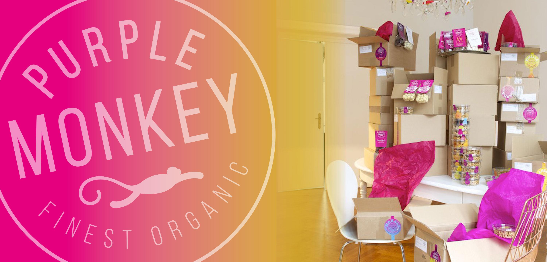 Purple-Monkey-Image-Motiv-Produkte-Boxes-bio-organic-Klemm-Design